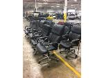 Lot: OF03 - (12) BLACK ROLLING OFFICE CHAIRS