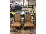 Lot: OF04 - (2) BROWN UNIQUE OFFICE CHAIRS