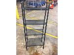 Lot: OF10 - BLACK WIRE MESH 4 LEVEL SHELF