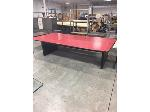 Lot: OF16 - LARGE RED CONFERENCE TABLE