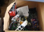 Lot: 31,32&33 - (1 Box) Random Parts, Keyboards & Seat Cushion