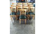 Lot: 49.PU - (13) Wood Chairs (Green Pads)