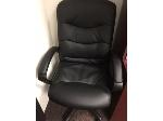 Lot: 90 & 91.PU - Office Chair & Wooden Bookcase
