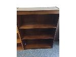 Lot: 96 & 97.PU - Bookcase & Office Chair