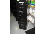 Lot: 126.PU - Four Drawer Black Filing Cabinet