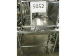 Lot: 5052 - SS TABLE w/ CART, TRAYS & UTENSILS