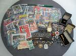 Lot: 2102 - STERLING PENDANT & SPORTS CARDS - NO CREDIT CARDS