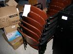 Lot: WF11 - (APPROX 6) STACKABLE CHAIRS