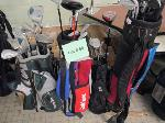 Lot: SP.50 - (4) Golf Bags With Assorted Clubs.