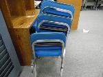Lot: UV.75 - (9) Chairs. Hutch Desk