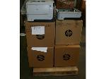 Lot: 531 - (6) HP Printers & (6) HP Paper Trays
