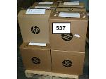 Lot: 537 - (6) HP Printers & (6) HP Paper Trays