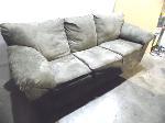Lot: A5421 - Ashley Furniture Suede Reclining Sofa