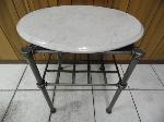Lot: A5425 - Wrought Iron Marble End Table