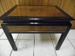 Lot: A5433 - Brown Oak and Black End Table