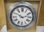 "Lot: A5445 - Factory Sealed 20"" Home Decor Silver Clock"