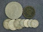 Lot: 2118 - 1847 LARGE ONE CENT & FOREIGN COINS