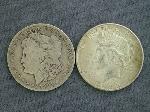 Lot: 2151 - 1901-O MORGAN & 1923 PEACE DOLLARS