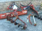 Lot: 137.TYLER - (2) TRACTOR MOUNTED EARTH AUGERS & (2) RHINO GRADER BLADES