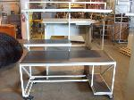 Lot: 166&167.TYLER - (3) WORK TABLES & FILE CABINET