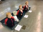 Lot: 190&191.DALLAS - (3) CPR DUMMIES W/CARRYING CASES, DVD PLAYER & VHS PLAYERS
