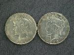 Lot: 2159 - 1922 & 1923 PEACE DOLLARS