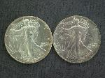 Lot: 2169 - (2) 1986 SILVER EAGLE $1 COINS