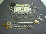 Lot: 2188 - 1963 RED SEAL $2 NOTE, NECKLACES & BRACELETS