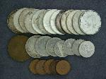 Lot: 2193 - (13) 1964 KENNEDY HALVES & FOREIGN COINS