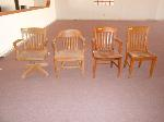Lot: 19.HCJC - (4) WOOD CHAIRS