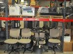 Lot: C8.General - TELEVISIONS, (13) CHAIRS & PRINTERS