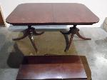 Lot: A5461 - Cherry Wood Kitchen Table w/felt pad & leaf