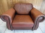 Lot: A5467 - Brown Leather Sofa Chair