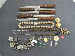 Lot: 2257 - RING, NECKLACE & EARRINGS