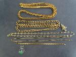 Lot: 2277 - PENDANT, NECKLACES & PLATINUM RING