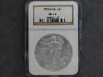 Lot: 162 - 2002 SILVER EAGLE DOLLAR NGC MS69