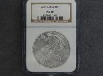 Lot: 163 - 2004 SILVER EAGLE DOLLAR NGC MS69