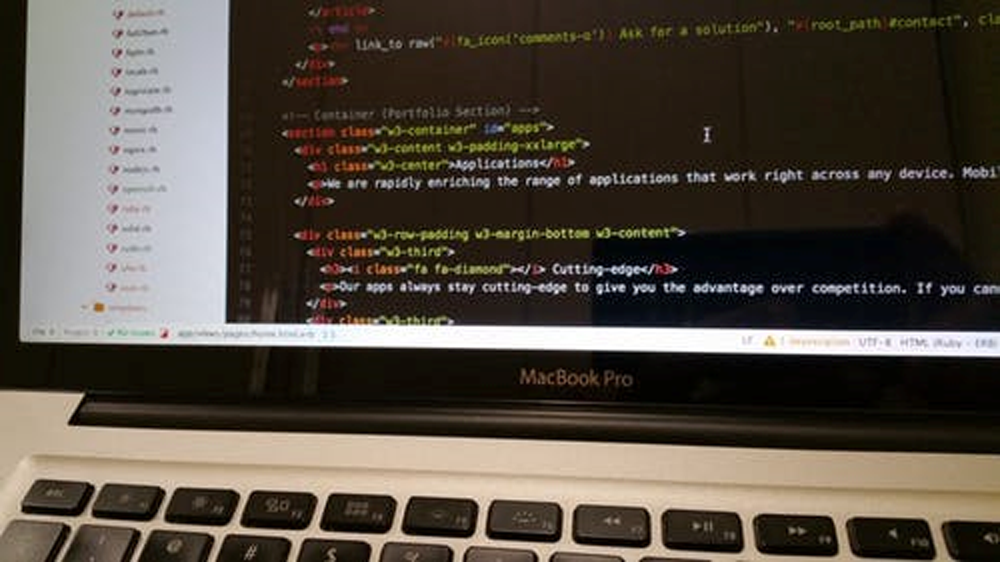 computer screen close up