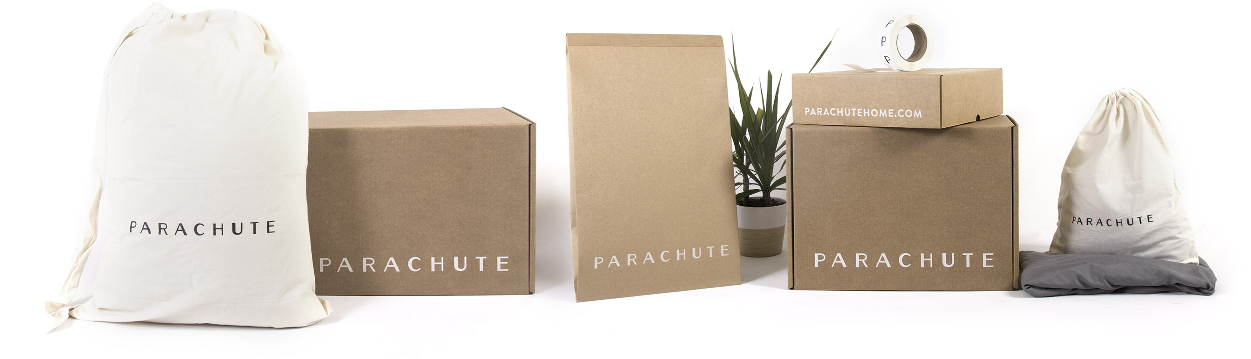 Parachute Packaging Lineup by Lumi