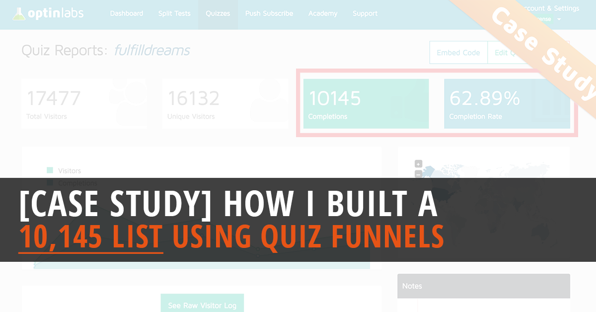 OptinLabs Case Study How I Built A 10,145 List Using Quiz Funnels