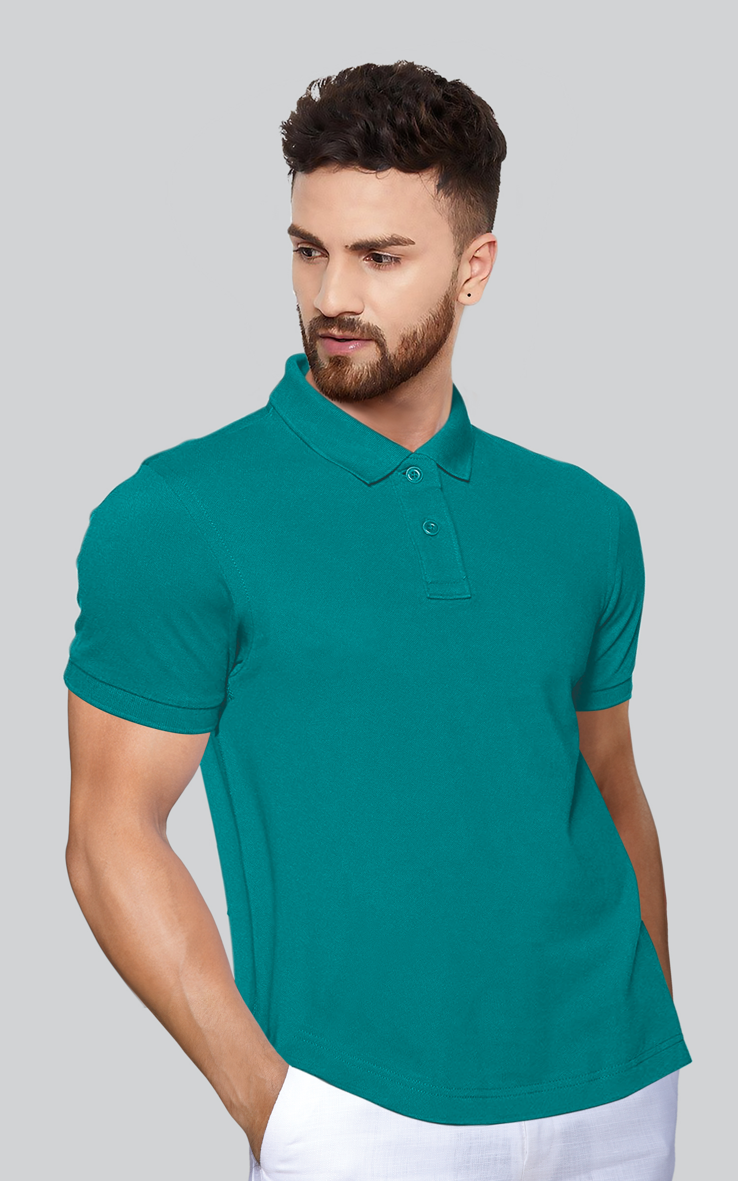 Lux Button Collar T-Shirt