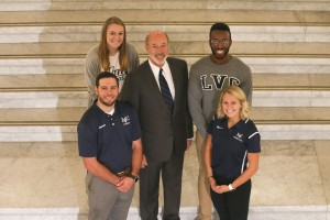 "LVC Student-Athletes Join Gov. Wolf for ""It's On Us"" Legislation Announcement"