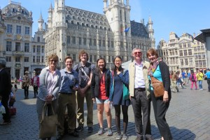 Treva Clark visits Brussels with LVC students