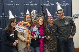 Students participate in Lebanon Valley College's Day of Philanthropy.