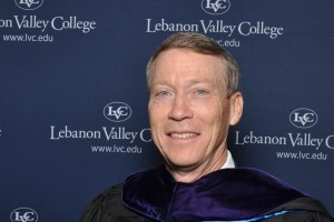 Douglas Ebersole receives his honorary degree from LVC