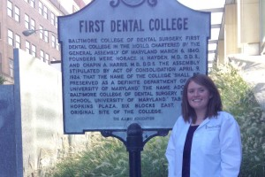 Biology alumni Katie Wray went on to graduate from the University of Maryland School of Dentistry