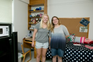 Mattea Whitford and her roommate in their Vickroy residence hall dorm room