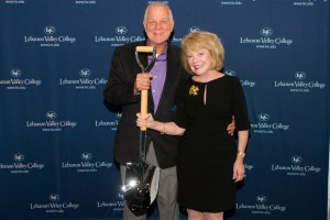 Edward and Jeanne Arnold celebrate the groundbreaking of the Arnold Health Professions Pavilion