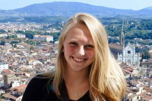 Theresa Messenger studies abroad in Perugia, Italy