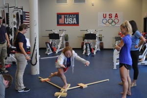 Physical Therapy Doctoral students work with Olympic Field Hockey athletes at Spooky Nook Complex